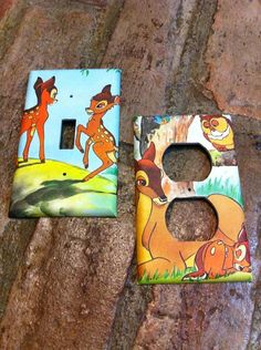 Bambi Light Switch and Electrical Cover by Hippiemysticstudio, $8.50