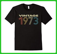 Mens Vintage 1973 Tee 44 Years Old Funny 44th Birthday Shirt Gift Small Black - Birthday shirts (*Amazon Partner-Link)