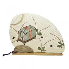 唐船屋オリジナル団扇 虫かご 送料無料キャンペーン中!2014年8月末日まで。