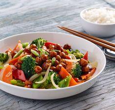 Sauté de pois chiches et légume sauce style Général Tao | Bonduelle