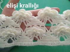 Crochet Crown, Crochet Lace Edging, Filet Crochet, Crochet Doilies, Easy Crochet, Crochet Stitches, Crochet Baby, Crochet Scarves, Crochet Hooks