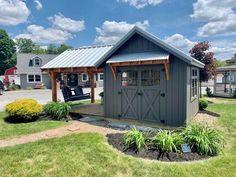 Backyard Studio, Backyard Sheds, Outdoor Sheds, Backyard Landscaping, Backyard Buildings, Garden Sheds, Farmhouse Sheds, Farmhouse Garden, Greenhouse Shed