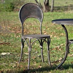 Distressed Black Patio Chairs, Set of 2