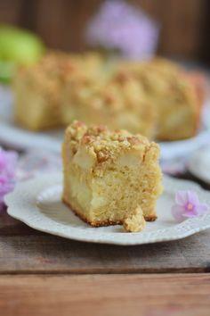 Apfelkuchen mit Pudding und Streuseln #herbst #food #cake | Das Knusperstübchen