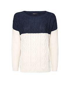 MANGO - Bicolour knitted jumper