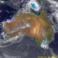 National Radar Loop:     22:58 UTC  Tue 17 Feb 2015