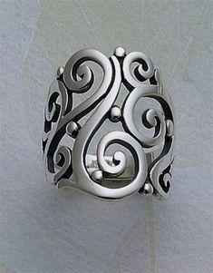 Open Sorrento Ring #jamesavery #jewelry #SilverJewelry