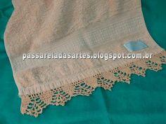 Artes na Passarela: Bico de crochê para toalha de rosto