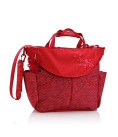 Amazon.com : okiedog Sumo Messenger & Backpack Diaper Bag Sakawa - red : Diaper Tote Bags : Baby