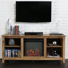 Belham Living Dawson 58 in. Fireplace TV Stand | from hayneedle.com