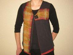 Shibori Silk Vest by Claudia Birdsall