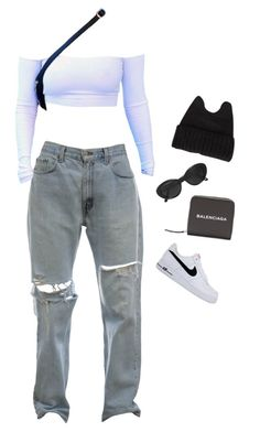 """""""Untitled #1542"""" by hanabs on Polyvore featuring Novo, Balenciaga and NIKE"""
