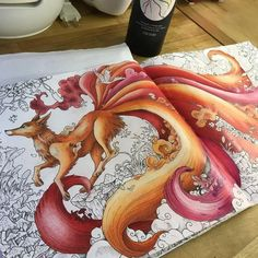 "241 Likes, 22 Comments - Sara Campana - Italy (@saracamp79) on Instagram: ""FOX is done!! Now the background #coloringbook #colouring #colorpencil #coloringforadults…"""
