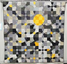 From QUILTCON - Reflections in Grey  Made and Quilted by Mary Marcotte  Evergreen, Louisiana, USA - I love this quilt!