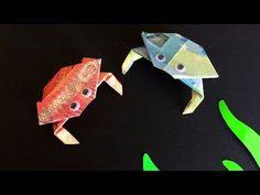 Geldscheine falten: Krabbe - Geld falten zum Basteln lustiger Geldgeschenke - Origami Krebs - YouTube