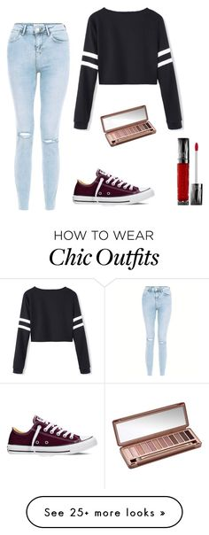 """cute, chic, and converse"" by janeelise on Polyvore featuring New Look, Converse and Urban Decay"