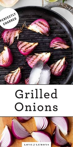 Learn how to make perfectly grilled onions! Sweet, tender, and caramelized, they're a delicious side dish or topping for burgers and more. Best Grill Recipes, Summer Grilling Recipes, Yummy Vegetable Recipes, Vegetarian Breakfast Recipes, Yummy Grill, Vegetarian Fajitas, Air Fryer Recipes Easy, Grilled Veggies, Onion Recipes