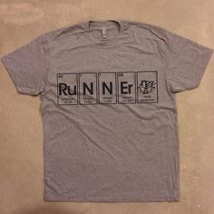 Runner Periodic Table Graphic Printed 11 Widecolor Options Men S Heather Grey Women Greymen