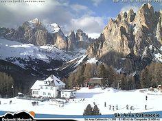 Rosengarten webcam Ski Area Catinaccio Vigo di Fassa da Ciampedie Skiweather.eu