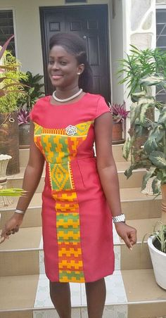 African made kente dress ~African fashion, Ankara, kitenge, African women dresses, African prints, African men's fashion, Nigerian style, Ghanaian fashion ~DKK