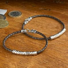 Silver and leather bracelets,  National Geographic
