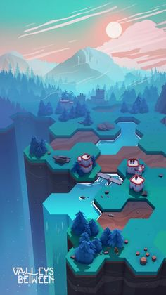 Announcing Valleys Between - a game about creating life and balance in a forgotten world.   Shape the land at your fingertips, discover relationships within nature and develop communities. Create a thriving, beautiful world and watch it grow.   Coming to mobile mid-2018!pic.twitter.com/lcwOV4R4pJ
