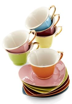 Home & Gifts - Dream and Sugar Tea Set in Gold Trim
