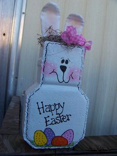 US $15.00 New in Crafts, Handcrafted & Finished Pieces, Handpainted Items...Outdoor Easter deco idea...paint some Easter Bunny pavers!
