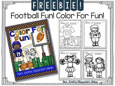 Back to School #Freebie Football Color for Fun #TPT #FREE