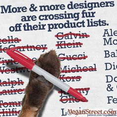 It was just a couple of months ago when we reported that Gucci was suspending its fur line. This past week, two more isgnificant fashion houses – Michael Kors and Jimmy Choo – followed suit and announced that they will no longer carry animal fur. Yes, all these designers still carry leather, and yes, our work of teaching compassion to the fashion industry and their consumers is not done, but we should still be celebrating this. http://veganstreet.com/dailymeme-12-18-17.html