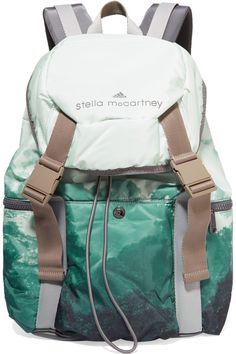 ADIDAS BY STELLA MCCARTNEY Weekender Printed Shell Backpack. #adidasbystellamccartney #bags #backpacks
