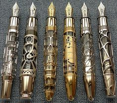 Montblanc has a series of very rare Skeleton pens, and while they aren't strictly steampunk, they certainly tickle all the right fancies to feel at home in a steampunk wardrobe.  Now all I need is to scrape up the $90,000 it takes to own one
