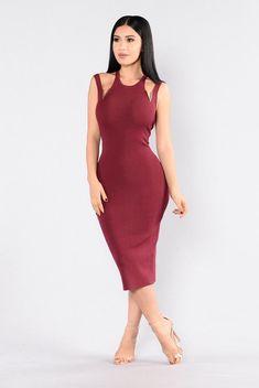 Someone Like Me Dress - Burgundy