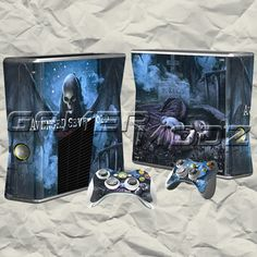 Nightmare XBOX 360 Skin Set - Console with 2 Controllers
