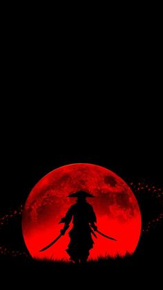 Blood Moon Samurai - IPhone Wallpapers
