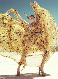 Maryna Linchuk by Paola Kudacki for Harpers Bazaar US September 2011