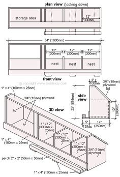 Chicken Coop - Plan dun poulailler Building a chicken coop does not have to be tricky nor does it have to set you back a ton of scratch. Chicken Coop Designs, Chicken Coop Plans Free, Backyard Chicken Coop Plans, Easy Chicken Coop, Building A Chicken Coop, Chickens Backyard, Clean Chicken, Inside Chicken Coop, Chicken Feeders