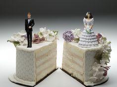 12 divertidas decoraciones de torta para divorcios