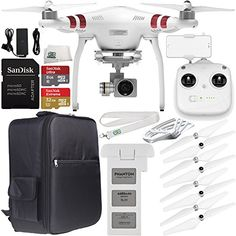 DJI Phantom 3 Standard with 2.7K Camera and 3-Axis Gimbal & Manufacturer Accessories + DJI Prop Guards + Water-Resistant Backpack + MORE drone reviews