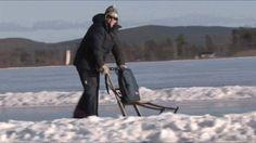 Vinternöje och skridsko på sjön Runn - Falun Borlänge