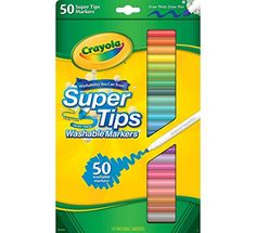 "Great markers for adult coloring - Crayola 50ct Washable Super Tips - ""Styles May Vary"" Crayola"