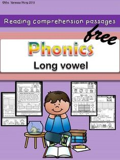 Long vowels passages and activities for vocabulary, fluency & reading comprehension, and story sequence.Different reading strategies and grammar skills are included:Compare and contrastCharacters and settingMain idea and detailsThe whole packet is here. Reading Comprehension Activities, Phonics Reading, Reading Passages, Reading Strategies, Teaching Reading, Teaching Phonics, Guided Reading, Learning, Teaching Kids