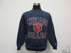 Vtg 90s Champion Chicago Bears Crewneck Sweatshirt sz L Large Football NFL NFC Vintage by TCPKickz on Etsy