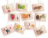 Postcard set - Fun postcards - Sets of postcards - Art postcard - Colorful - Postcards - Food photography - Postcard collection,6x4(10x15cm)