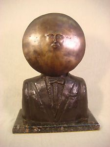 SERGIO-BUSTAMANTE-BRONZE-SCULPTURE-MAN-MOON-FACE-91-100-SIGNED-NUMBERED