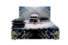 Technicolor Dream Pixel Bed by Hastens & Zuzunaga