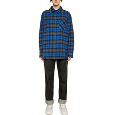 Acne Studios Logo Patch Flannel Overshirt Burberry Kids, Studio Logo, Jeans And Sneakers, Merino Wool Sweater, Cuff Sleeves, Long Tops, Winter Wardrobe, Acne Studios, Work Wear