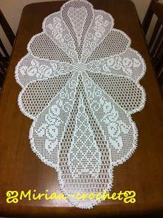 ஜMirian-crochetஜ: Toalha de mesa em crochê filet