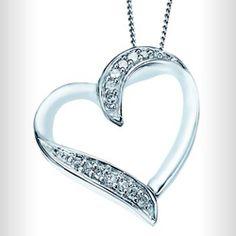 ERNEST JONES: Necklaces white gold diamond heart pendant with secret diamond. Diamond Heart, Heart Ring, Ernest Jones, White Gold Diamonds, March, Necklaces, Pendant, Rings, Shopping
