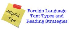 Competent readers use various reading skills when approaching a text written in a foreign language.  Reading techniques vary depending on the type of text.